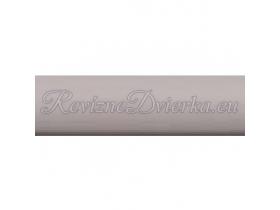 ŠEDÁ ukončovacia lišta, hranatý L profil PVC, pre obklad 8 mm