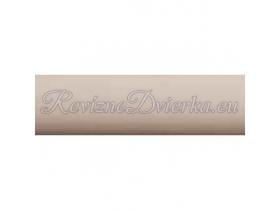 JASMÍN ukončovacia lišta, hranatý L profil PVC, pre obklad 8 mm
