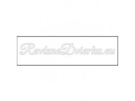 BIELA ukončovacia lišta, hranatý L profil PVC, pre obklad 10 mm