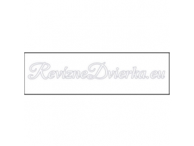 BIELA ukončovacia lišta, hranatý L profil PVC, pre obklad 6 mm