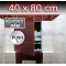 ZAVRZ Revízne dvierka š x v 40x80 cm s PUSH systémom, Kovový rám, Ľavé
