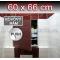 ZAVRZ Revízne dvierka š x v 60x66 cm s PUSH systémom, Kovový rám, ĽAVÉ