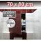 ZAVRZ Revízne dvierka š x v 70x80 cm s PUSH systémom, Kovový rám, ĽAVÉ
