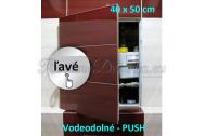 ZAVRZ Revízne dvierka š x v 40x50 cm-PUSH-Vodeodolné, na doske GlassRock, Ľavé