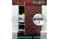 ZAVRZ Revízne dvierka š x v 40x60 cm-PUSH-Vodeodolné, na doske GlassRock, Pravé